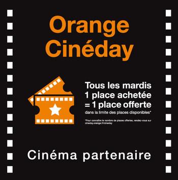 Tous les mardis, pour tous les clients Orange, 2 places pour le prix d'1.